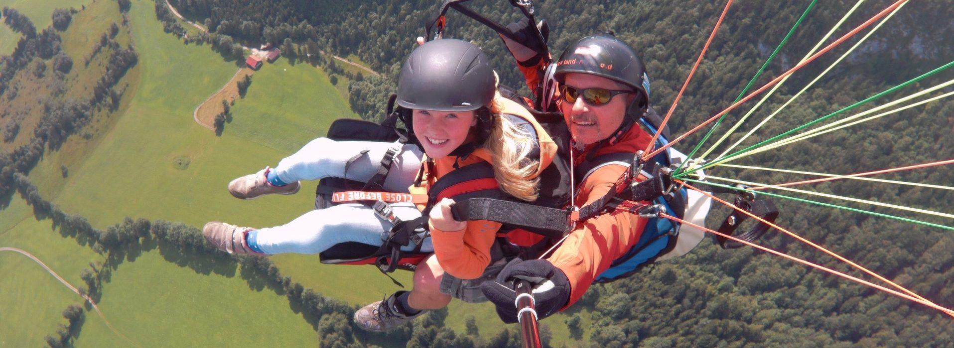 Kinder - Tandemflug am Brauneck