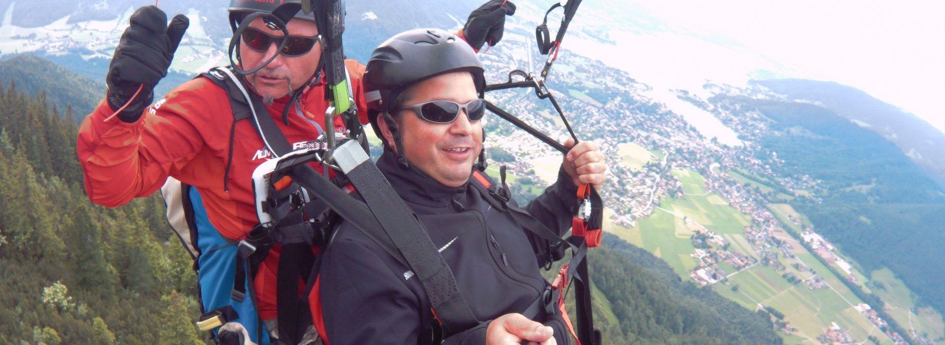 Gleitschirm Tandemflug am Tegernsee